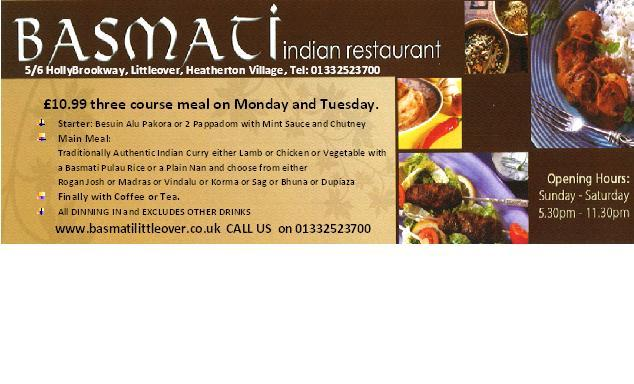 £10.99 three course meal on Monday and Tuesday